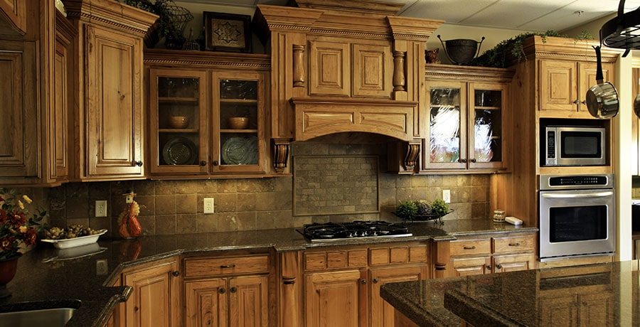What are the common materials uses for kitchen counter tops
